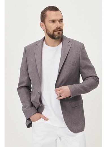 Altınyıldız Classics Slim Fit Dar Kesim Mono Yaka Blazer Ceket 4A0421200002 Gri